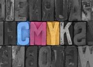 Cmyk made from old letterpress blocks